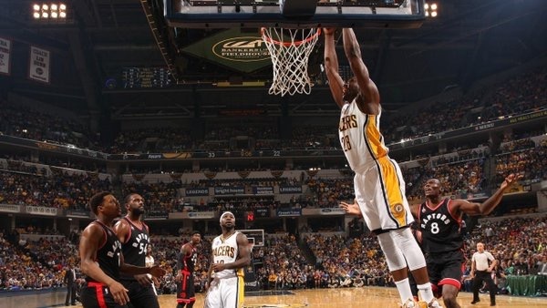 Mahinmi puts team on his ailing back, Pacers tie series 2-2