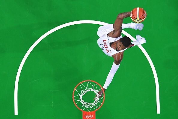 Paul George reaches out to French gymnast, leads USA in scoring against Venezuela