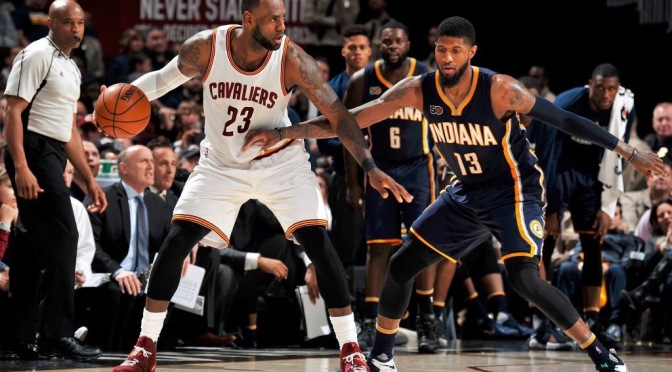 Two-Minute (Two-Ahh): Paul George and LeBron James battle as Pacers fall in double OT