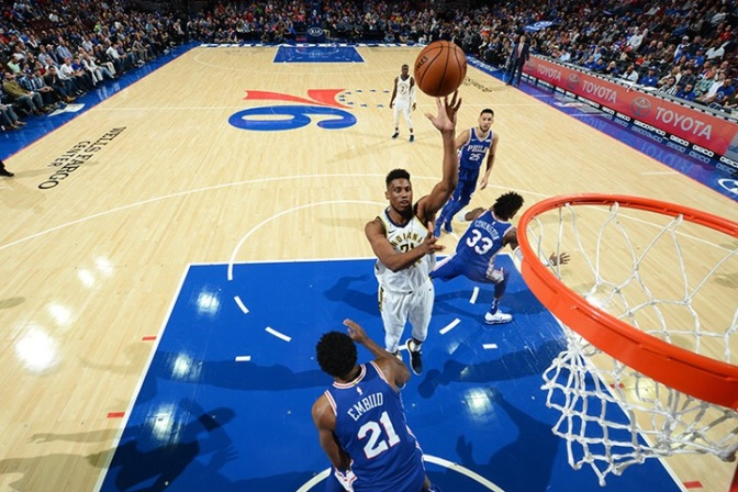 Two-Ahh: Pacers lose to Sixers 121-110