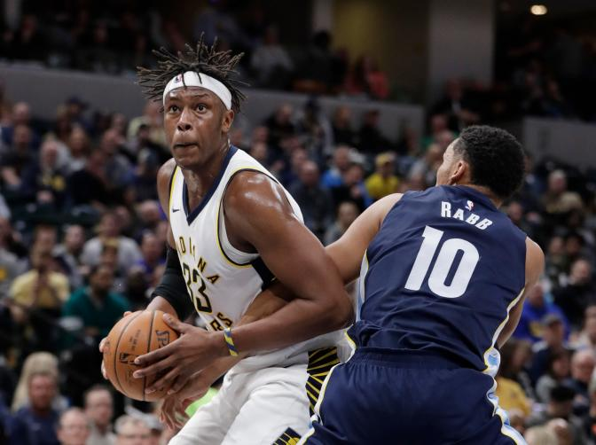 Myles Turner showing off all the goods since his return