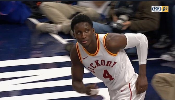 Victor Oladipo says he'll eat Popeyes again when the Pacers win the championship