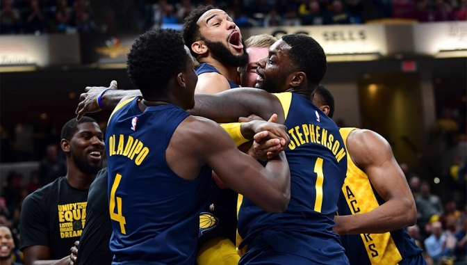 One moment captures the spirit and togetherness of the 2017-18 Indiana Pacers: This Picture is Worth a Thousand Words #5