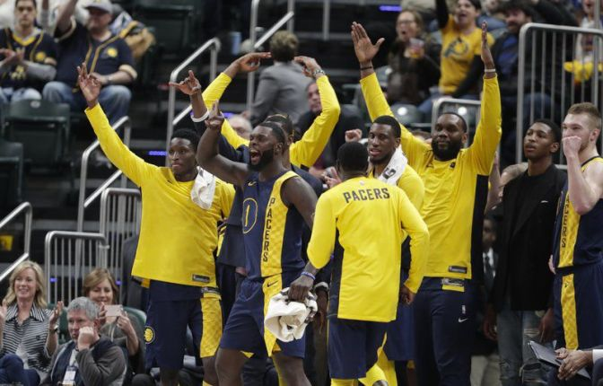 The Indiana Pacers blowout the defending champs