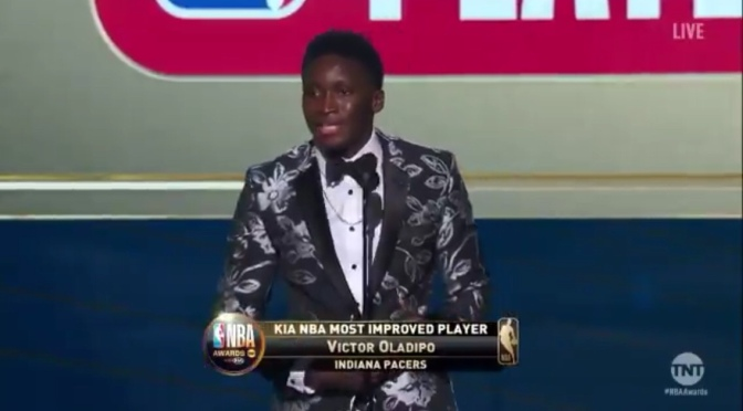 Victor Oladipo is officially the Most Improved Player in the NBA