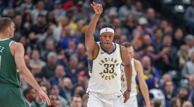 Pacers Myles Turner gives the Philly crowd the finger