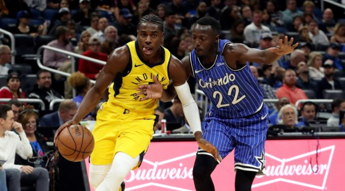 Aaron Holiday back to waiting for his turn as Oladipo returns